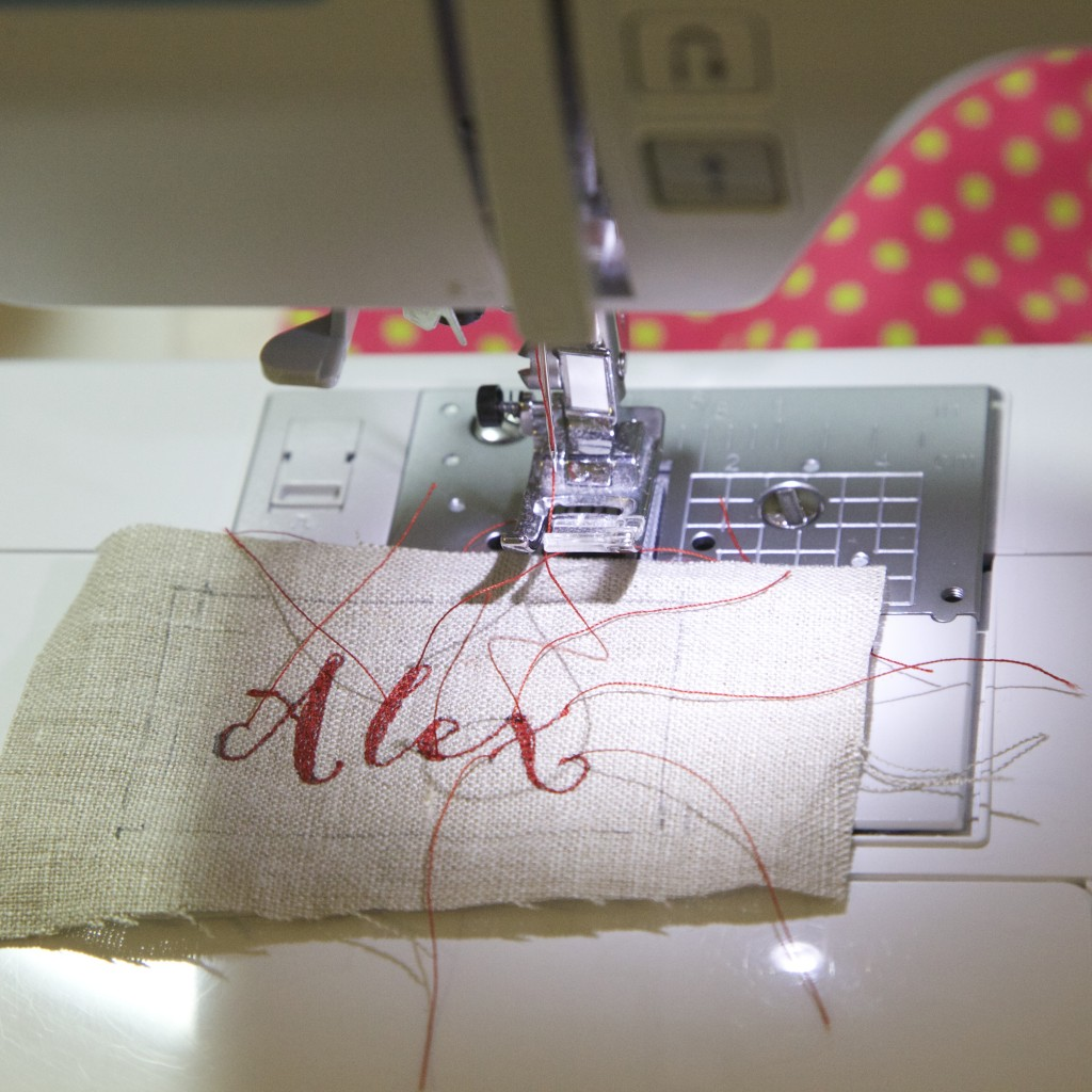 how to embroider letters with sewing machine
