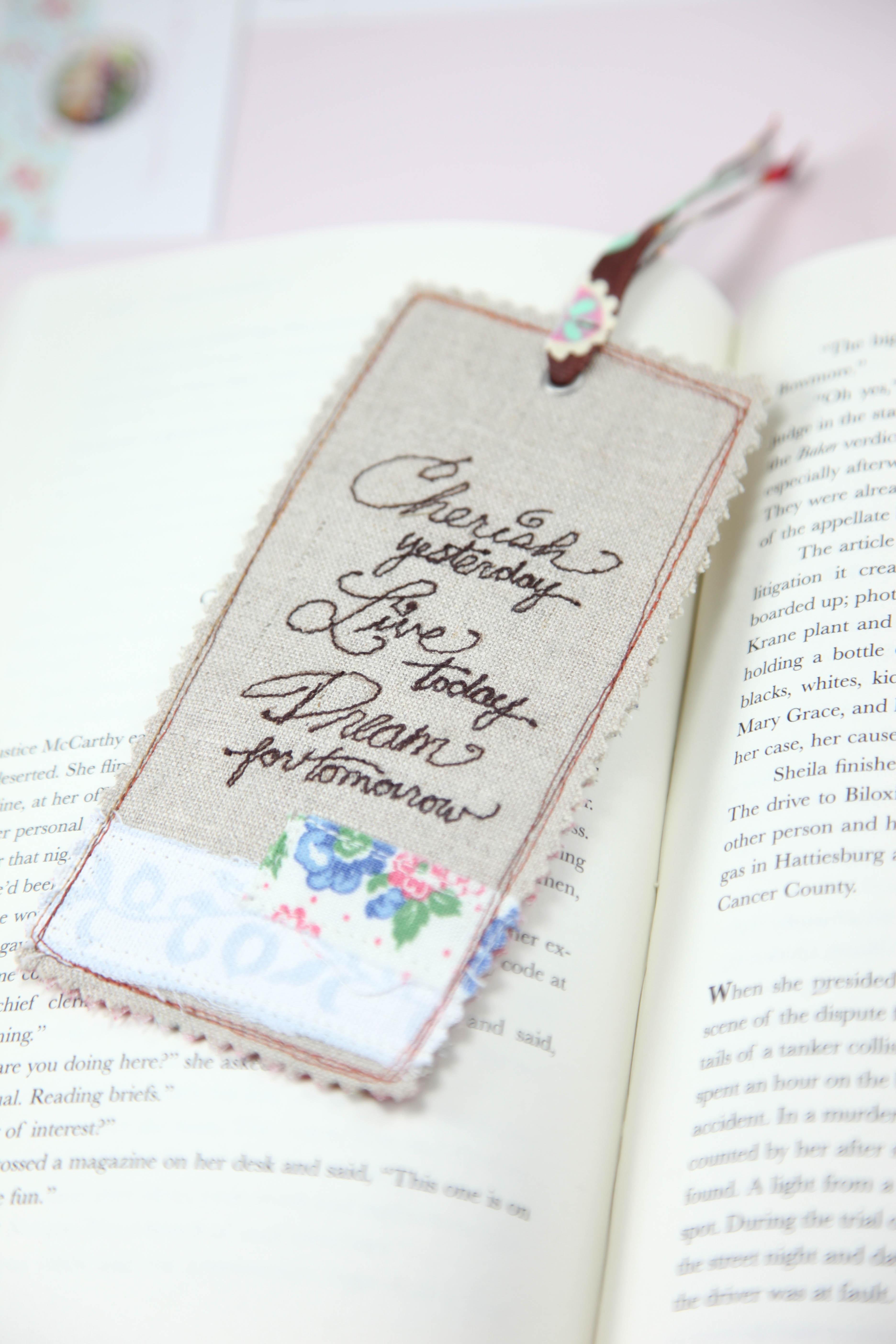 linen bookmarks  u2013 minki u0026 39 s work table