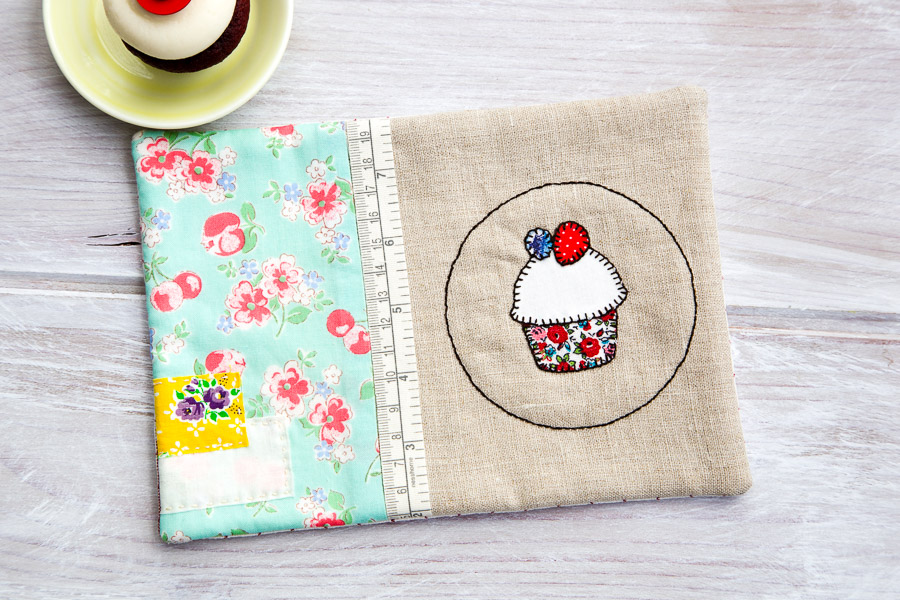 handmade placemat with cupcake applique