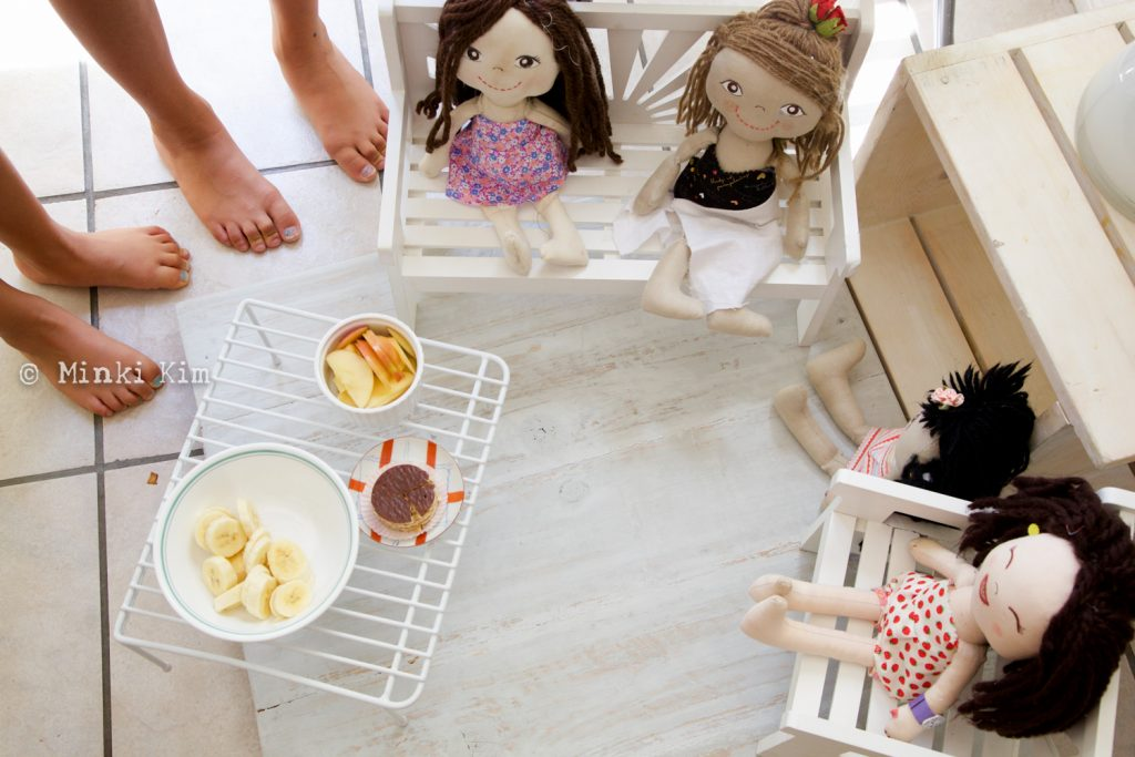 doll play with sister