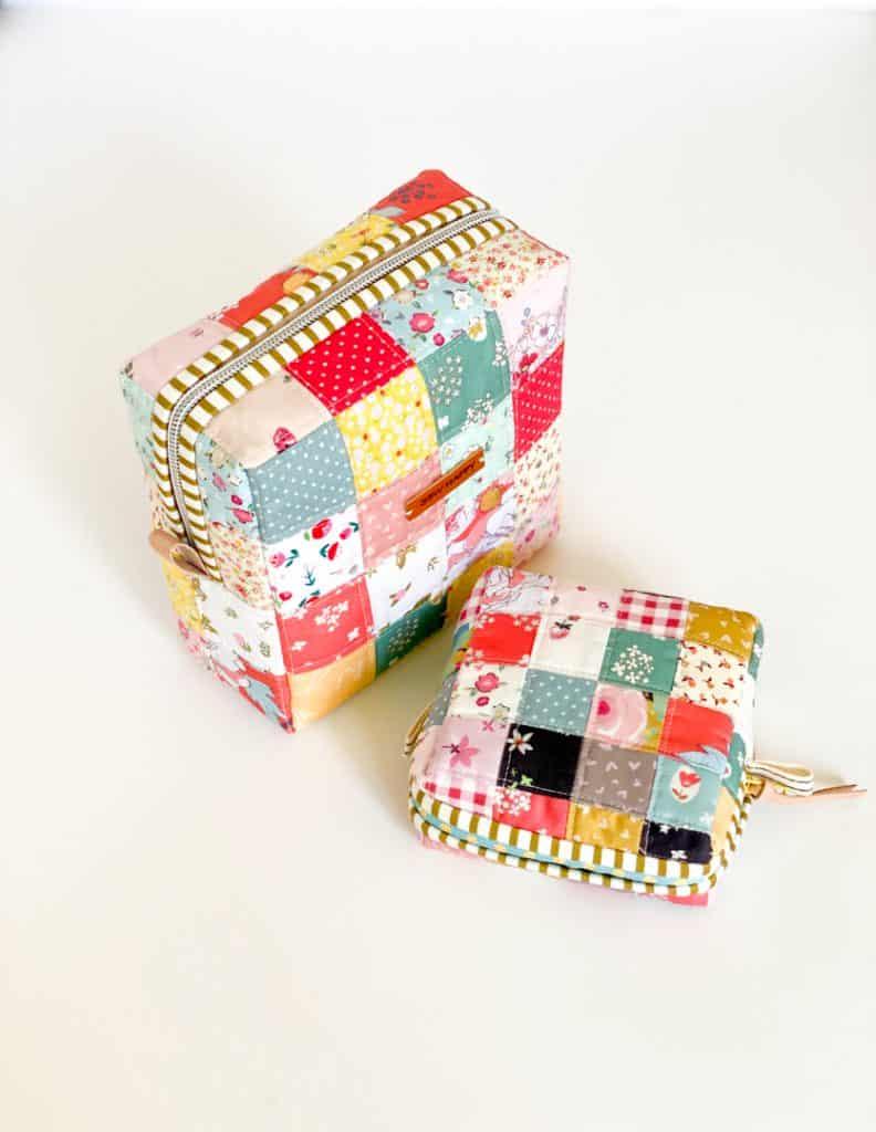 Patchwork mouse pocket square pouch